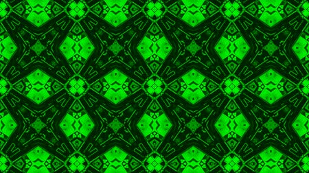 vetor : Poly Art Kaleidoscope green yellow fractal stripes pattern seamless 4k