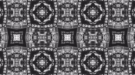 калейдоскоп : Poly Art Kaleidoscope seamless smooth bnw neon chinese style pattern 4k Стоковые видеозаписи