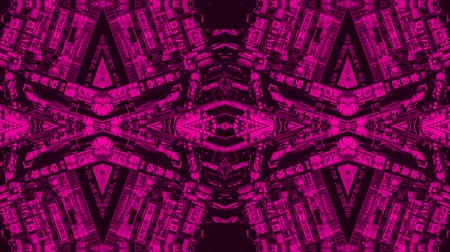 vetor : Poly Art Kaleidoscope smooth seamless pink fractal rotation chinese kaleidoscope