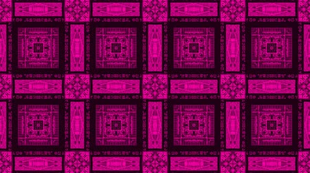 vector : Poly Art Kaleidoscope square looping chinese neon pink fractal 4k