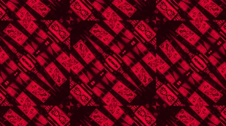 vector : Poly Art Kaleidoscope abtract pattern red and black seamless smooth sequence fractal 4k Stock Footage