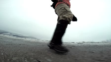 kalhoty : Man Hiking Slow Motion Boots Video