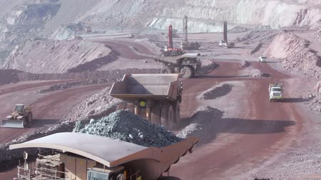 Dump truck in a Copper mine