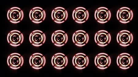 amplificador : Stereo Speakers glows spinning. Background abstract animation