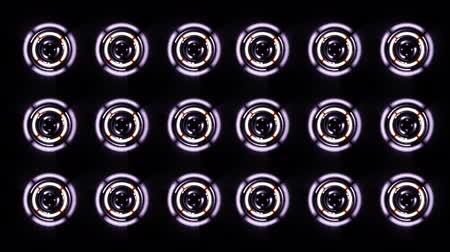 reproduktory : Stereo Speakers glows spinning. Background abstract animation