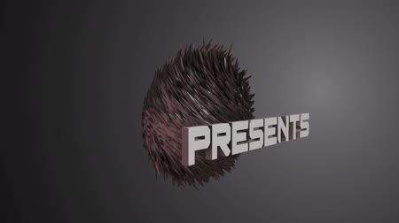 Abstract background animation spikes Stock Footage