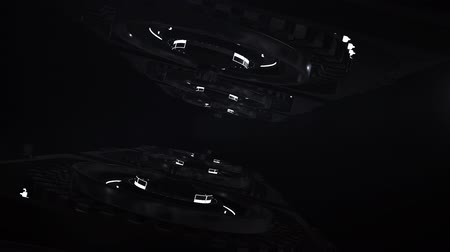 3D Spacecraft. Spaceship with laser animation Stock Footage