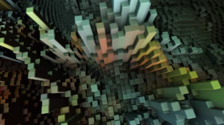 Abstract Cubes Move, 3D Animation
