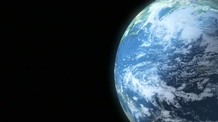 Earth Loop 3 - This animation of planet Earth loops seamlessly. Copy space is screen left.
