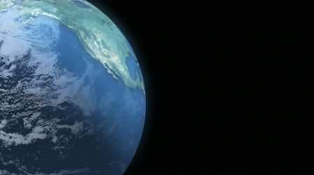 Earth Loop 2 - This animation of planet Earth loops seamlessly. Copy space is screen right.