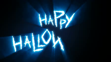 Claw Slashes Happy Halloween Blue Stock Footage
