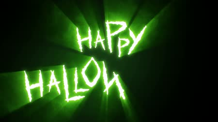 Claw Slashes Happy Halloween Green Stock Footage