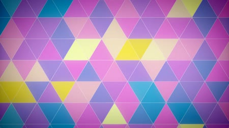 Triangle Polygon Loop 02 Spring Stock Footage