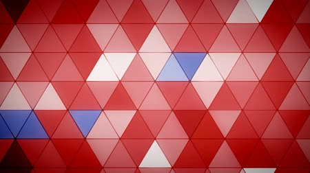 mosaico : Triangle Polygon Loop 07 Patriotic Stock Footage
