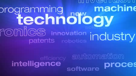 Technology and Innovation Words Loop - Seamless animation loop of various buzzwords pertaining to technology and innovation. Stock Footage