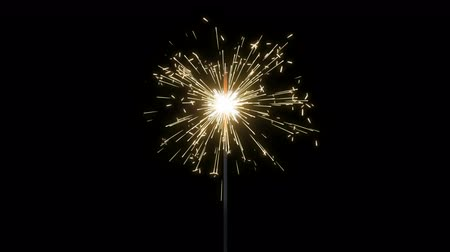 Fireworks Sparkler Loops - Seamless looping animation of fireworks sparkler. Multiple speeds and variations. Alpha mattes included. Great for New Years, Independence Day, birthdays, or any other celebration, holiday, or party.