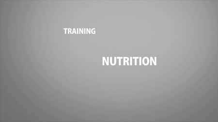 musculação : Personal trainer buzzword kinetic animation