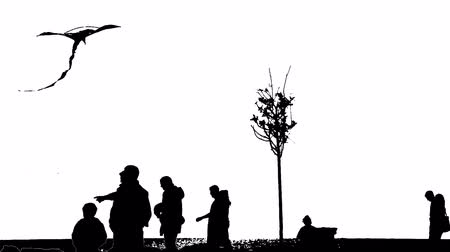 манипуляция : black and white Silhouettes Of People On The Move