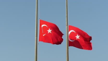 flag half mast : Turkish flag, lower the flag to half-staff