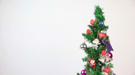 záradék : Christmas Fir Tree. Decoration Ornament and Flashing Red Heart Light, right side of screen.