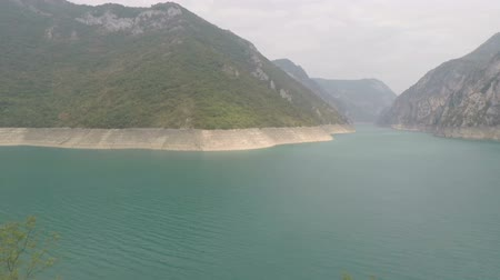 balcani : View of lake Piva, Montenegro.