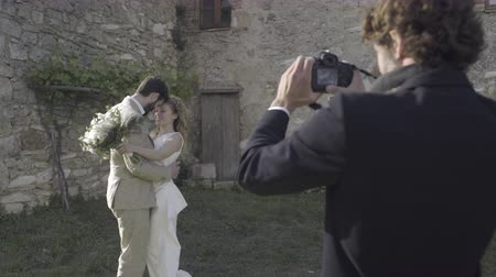 viewfinder : Bride and Groom having photos taken