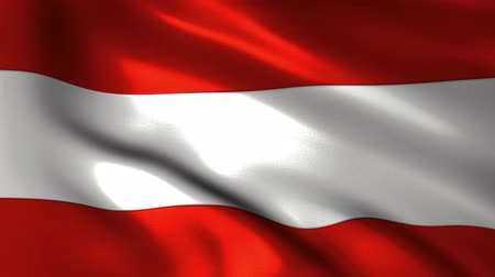 avusturya : Charming 3D animation flag of Austria on silk and shadow