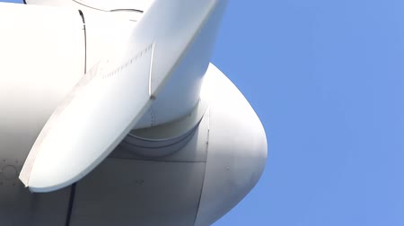 pervane : Extreme close up of Wind turbine
