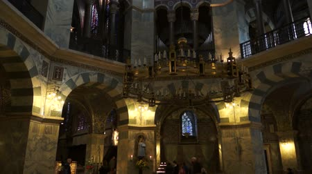 episcopal : interior of Aachen Cathedral, Germany