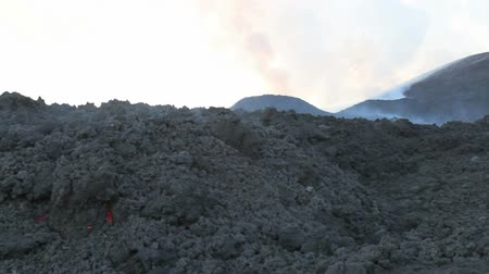 elnök : Mount Etna eruption Stock mozgókép