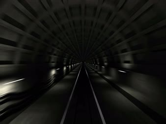 underground tunnel : Subway tunnel fast endless motion loop. View from the driver cabin with motion blur. 3d render animation