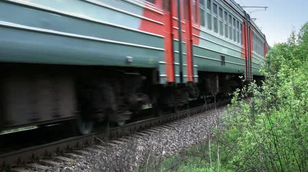 tourism : Fast passenger train rides through the Russian countryside Stock Footage