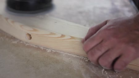 platen : sanding wood with angle grinder