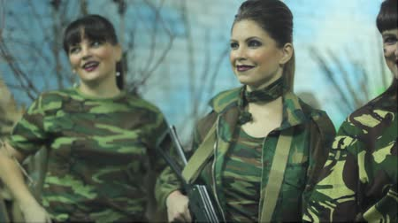 legionary : Russian girls in military uniform