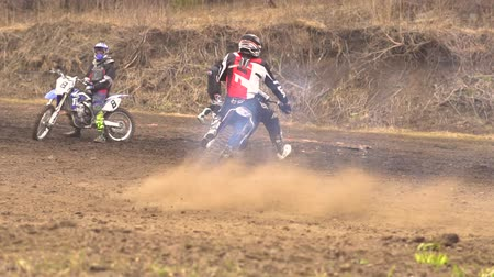 drift : Novokuzneck, Russia - 21.04.2018: motocross competitions