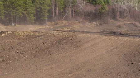 tournament : Novokuzneck, Russia - 21.04.2018: motocross competitions