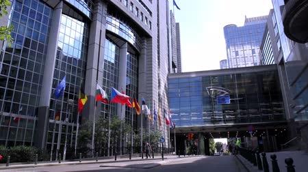 bélgica : European parliament (Brussels, Belgium). Stock Footage
