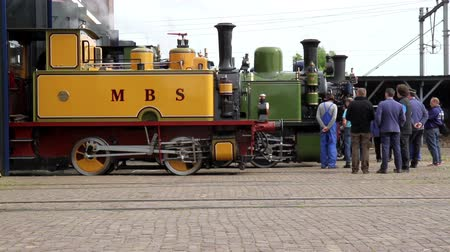 all ages : GOES, THE NETHERLANDS - MAY 31 2014: A splendid event for all ages: Railway to the past 2014. Vintage steam and diesel engines are coming by, offering you the possibility to make a beautiful journey.