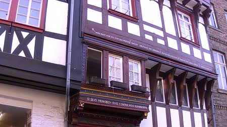 almanca : Houses of small German town Bad Munstereifel. Stok Video
