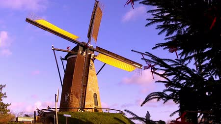 moinho de vento : Windmill in small Dutch town Cadzand (Zeeland, Netherlands).