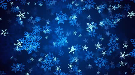 sniezynka : Background animation of falling snowflakes which can be useful for Christmas,Holidays and New Year videos and presentation. 4K HD seamlessly loop-able Background animation. Wideo