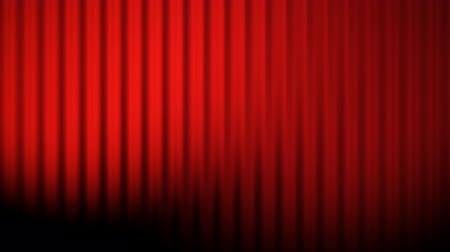 teatral : Red curtains animation with lights loop Stock Footage