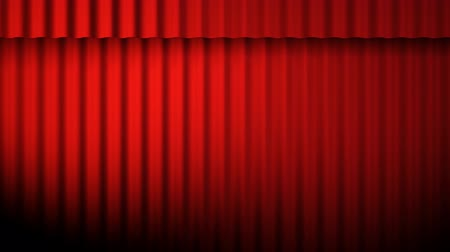 Red curtains animation with lights loop Vídeos