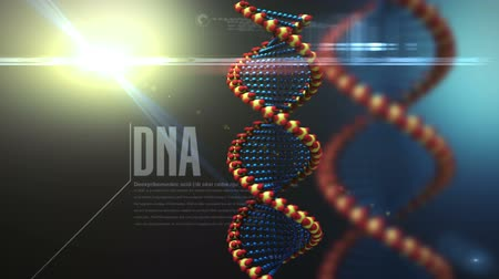 medicals : DNA structure rotating background Stock Footage
