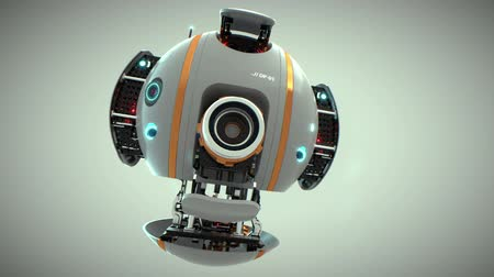 robots : Droid, robot flying machine with camera