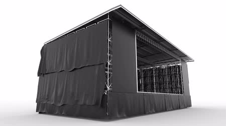 подиум : outdoor stage for show, concert, performance, advertisement,