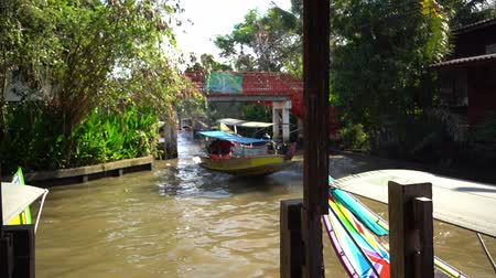 manga : Floating market in Thailand. The traditional market on the water in Bangkok