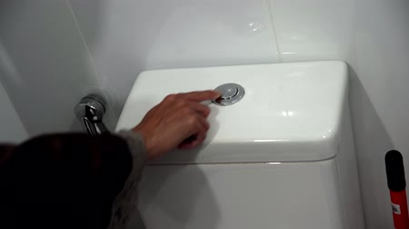 lids : Female press on dual button toilet flushing. ,Flush toilet, toilet flush handle