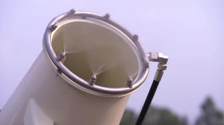 pipe tube : Pipelines and nozzles of the cooling system using water mist Stock Footage