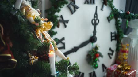 atmosphere : Christmas fir, holiday gifts Stock Footage